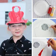 have kids paint a small firefighter badge or symbol on one edge of their paper plate if desired as shown