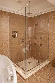 archaic bathrooms decorations with tile shower shelf ideas breathtaking design ideas using brown tile backsplash