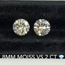 Moissanite Vs Diamond Moissanite Vs Diamond Side By Side