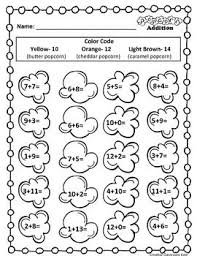 f4acb024a437ed8922a391ba22f26a8b color by code popcorn math 396 best images about math ideas and resources on pinterest fact on converting celsius to fahrenheit practice worksheets