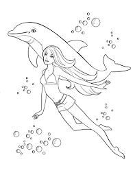 Free Printable Barbie Swimming With Dolphin