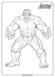 Hours of fun await you by coloring a free drawing super hero avengers hulk. Marvel The Avengers Hulk Pdf Coloring Pages