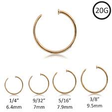 Nose Ring Gauge Chart Body Jewelry Gauge Online Charts Collection
