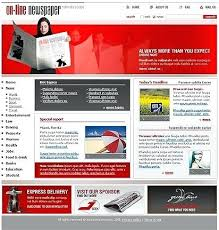 Newspaper Web Template Free Free Online Newspaper Website Template Web Templates News Portal