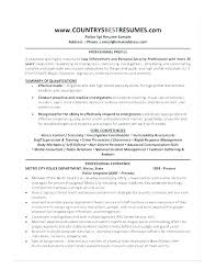 Police Officer Resume Noxdefense Com