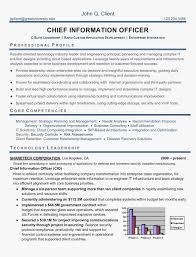 Cio Sample Resume Amazing Executive Resume Samples Cio Sample Chief Information Officer Depict