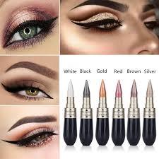 hengfang waterproof double end eyeliner eyeshadow makeup pencils color glitter eyes pencils pigments