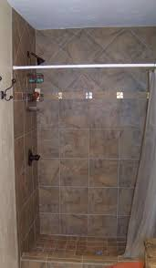 Bathrooms Without Tiles Zciiscom Tile Shower Without Curb Shower Design Ideas And