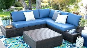 deep seating patio cushions luxury wicker outdoor sofa chairs replacement blue royal