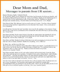 Thank You Letter For Parents From Daughter Letter To Mom From