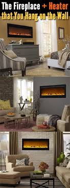 low cost energy saving electric fireplaces and heaters that can be hung