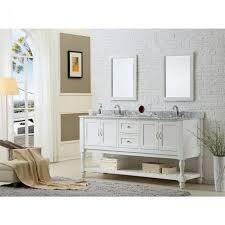 mission turnleg 70 in double vanity in pearl white with marble vanity top in carrara white
