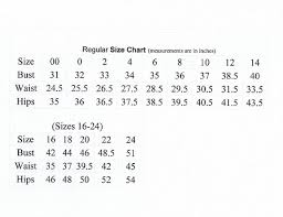Just My Size Sizing Requirements Bust Waist Hips Woman Guide For Formal Dress Size Os One Size