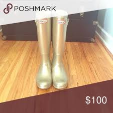 hunter boots size 6 gold metallic size 6 hunter boots metallic rain boot and rain