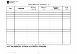 Get Maintenance Tracking Spreadsheet And 8 Maintenance Log Free