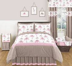 elephant pink taupe comforter set 3 piece full queen size by sweet jojo