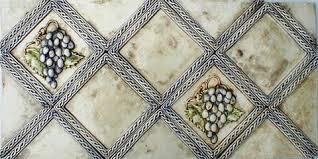 Decorative Relief Tiles Decorative Ceramic Tile Grape Bowl Panel and Grape Tiles 71