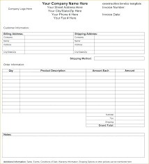 Contractors Invoice Template Enchanting Contractor Receipt Template Word Invoice For Labour Format In Work