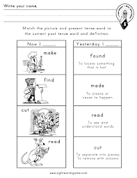 Irregular Verbs Worksheets for First Grade | Homeshealth.info