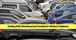 dealing with abandoned and unclaimed vehicles in alabama