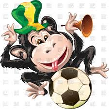 football fan clipart. football fan monkey in hat with soccer ball vector clipart clipart o