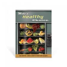 Vending Machine Healthy Beauteous Creative And Colorful Healthy Eating Classroom Poster Vending