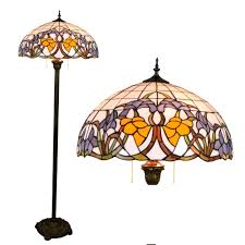 stained glass floor lamp uk base for shade tiffany baroque home parlor dining lamps canada patterns panel interiors anderson kit style dragonfly clearance