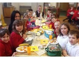 school dining hall  goldentable popup
