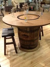 unique wooden whiskey barrel table innonpender com beautiful house designs