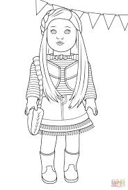 Coloring Pages American Girl Mckenna Coloring Page Free Printable