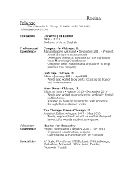 How To Write A Student Resume Make For Job As College High School