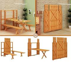 Wonderful DIY 2 In 1 Folding Bench And Picnic TableFold Bench