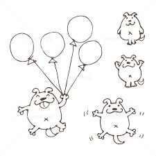 手描きの可愛い犬のマンガイラスト イラスト素材 5063383 フォト