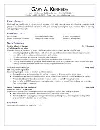 Template Project Manager Resume Templates Qualit Project Manager