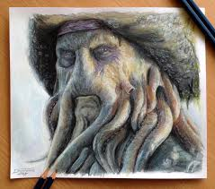 Drawingcolor Davy Jones Color Pencil Drawing By Atomiccircus On Deviantart