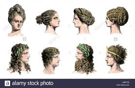 Ancient Roman Hair Style ancient greek women stock photos & ancient greek women stock 5621 by wearticles.com