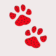 red dog paw clipart. Modren Paw Red Dog Paw On White Background Stock Vector  103389318 And Paw Clipart