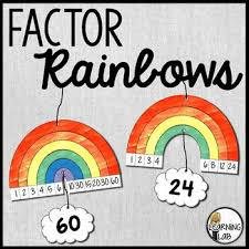 Factor Rainbow Worksheets Teaching Resources Tpt