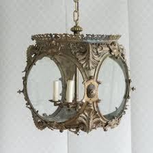 gilt metal and glazed hall lantern