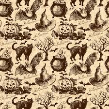 Halloween Pattern Amazing Halloween Seamless Pattern Hand Drawn Illustration Royalty Free