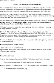 About The Apa Publication Manual Pdf
