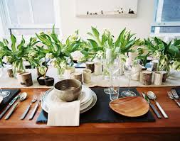 floral arrangements dining room table. beauty flower arrangement a wooden dining table set with vases of flowers    floral arrangements room s