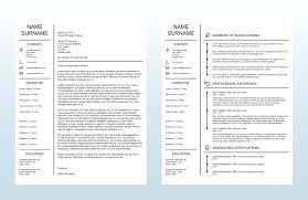 One Page Resume Template Best Download Vector Minimalist Creative Cover Letter And One Page Resume