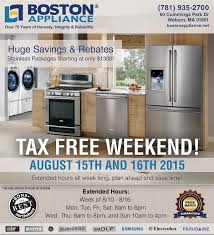 Small Appliance Sales Celebrate The Ma Tax Free Holiday With Boston Appliance