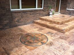 stained stamped concrete patio. Medium Size Of Exterior Concrete Stain Cement Patio Stained Pictures Backyard Ideas Stamped P