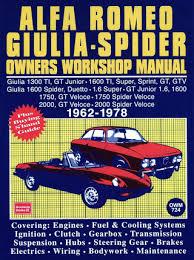 romeo giulia, spider repair & service manual 1962 1978 Alfa Romeo Spider Wiring Diagram alfa romeo giulia, spider repair & service manual 1962 1978 alfa romeo spider wiring diagram