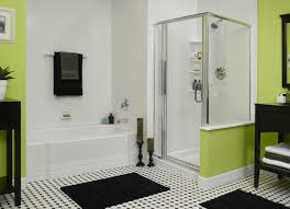 Laminate Bathroom Walls White Ceramic Subway Tile Wall Small Bathroom Remodel On A Budget