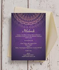 Purple Gold Mehndi Baraat Card From 0 85 Each