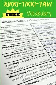 rikki tikki tavi activity pack increase reading comprehension rikki tikki tavi vocabulary actcivity introduce story vocabulary before reading the short