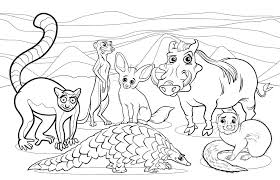 Coloring Pages African Animals Animals Drawing At Science Coloring
